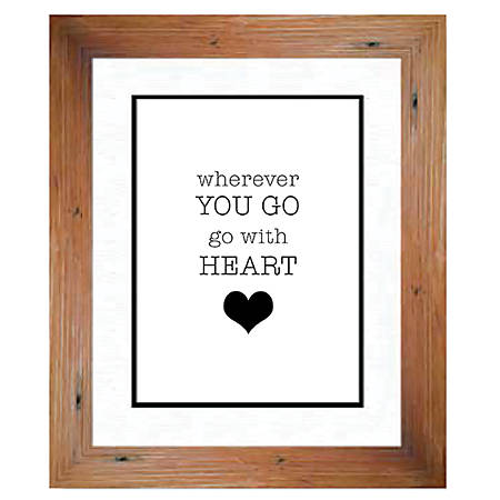 "PTM Images Photo Frame, Go With Heart, 14""H x 1 3/4""W x 16""D, Natural Wood"