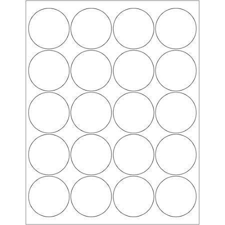 """Office Depot® Brand Glossy Circle Laser Labels, LL302, 2"""", White, Case Of 2,000"""