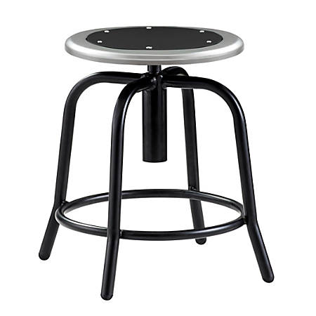 National Public Seating 6800 Height-Adjustable Swivel Stool, Black