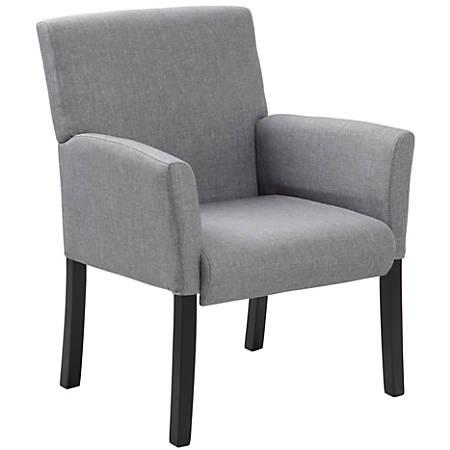 Boss Contemporary Guest Chair, Medium Gray/Gray