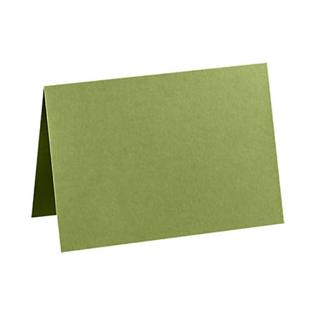 "LUX Folded Cards, A1, 3 1/2"" x 4 7/8"", Avocado Green, Pack Of 50"