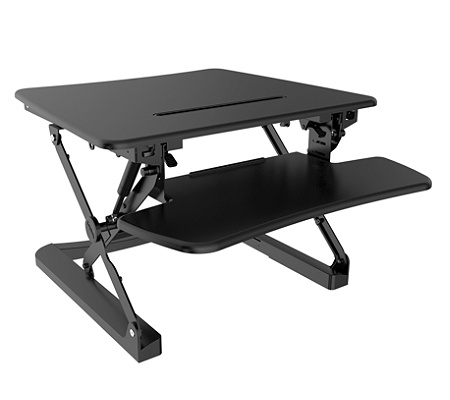 flexispot height adjustable standing desk riser with removable keyboard tray 27 w black by office depot officemax - Height Adjustable Standing Desk