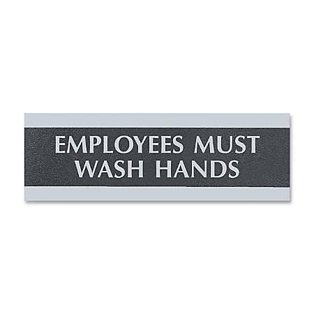 Print US Stamp Sign Employees Must Wash
