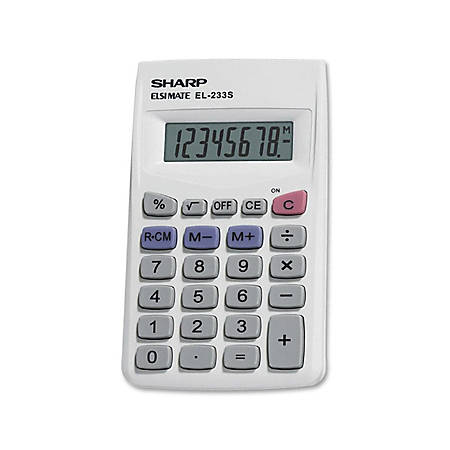Sharp® EL-233SB Handheld Basic Calculator