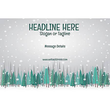 Adhesive Sign, Snow Fall, Horizontal