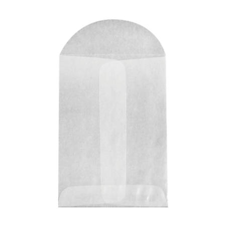 """LUX Open-End Envelopes With Flap Closure, 3"""" x 4 1/2"""", Glassine, Pack Of 500"""