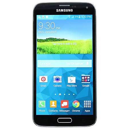 Samsung Refurbished Galaxy S5 G900V Cell Phone For Verizon Wireless/Unlocked, Black, PSC100009