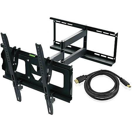 """Ematic EMW5104 Wall Mount for TV, Monitor - Black - 19"""" to 70"""" Screen Support - 110 lb Load Capacity"""