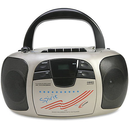 Califone Spirit Multimedia Player/Recorder - 1 x Disc - 2 W Integrated Stereo Speaker LCD - CD-DA - 108 MHz, 1710 MHz