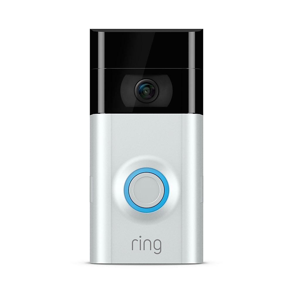 Ring Video Doorbell 2, Satin Nickel