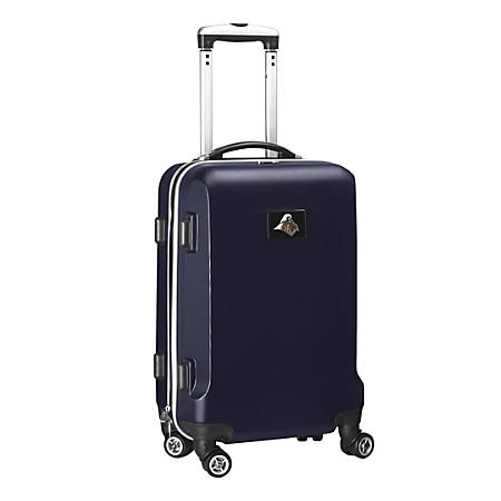 """Denco Sports Luggage NCAA ABS Plastic Rolling Domestic Carry-On Spinner, 20"""" x 13 1/2"""" x 9"""", Purdue Boilermakers, Navy"""