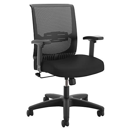 "HON Convergence Task Chair - Fabric Black, Foam Seat - 5-star Base - 26.9"" Width x 26"" Depth x 39.9"" Height"