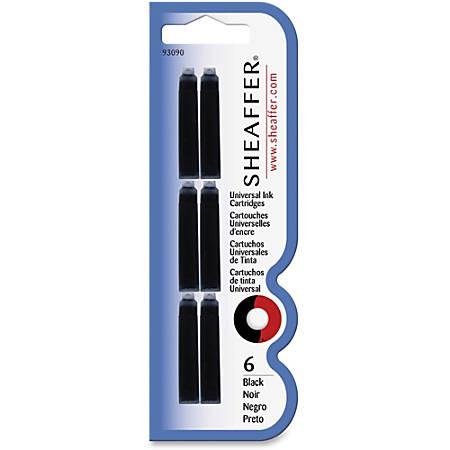Sheaffer Universal Ink Cartridges - Black Ink - Smooth Writing - 1 / Each