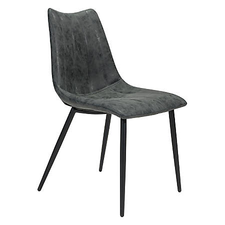 Zuo Modern Norwich Dining Chairs, Vintage Black/Black, Set Of 2