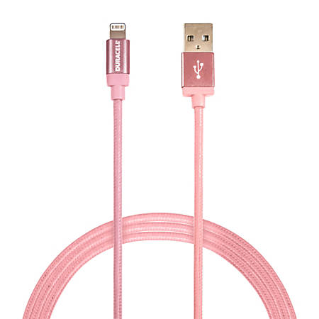 Duracell® Sync & Charge Cable, Lightning, 6', Rose Gold, LE2283