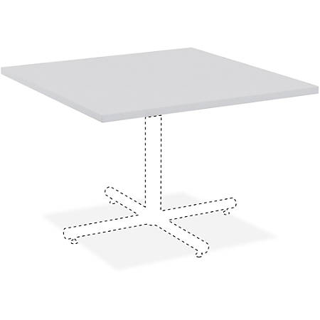 "Lorell® Hospitality Square Table Top, 42""W, Light Gray"