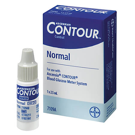 Bayer® Contour® Normal Control Solution, Low, 2.5 mL
