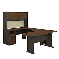 Bush Business Furniture Office Advantage U Shaped Desk And