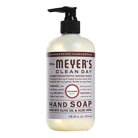Mrs. Meyer's Clean Day Liquid Hand Soap, Lavender Scent, 12.5 Oz, Pack of 6 Bottles