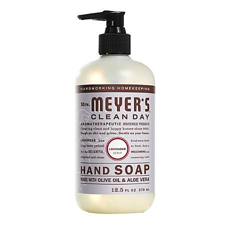 Mrs. Meyer's Clean Day Liquid Hand Soap, Lavender Scent, 12.5 Oz, Pack of 6 Bottles