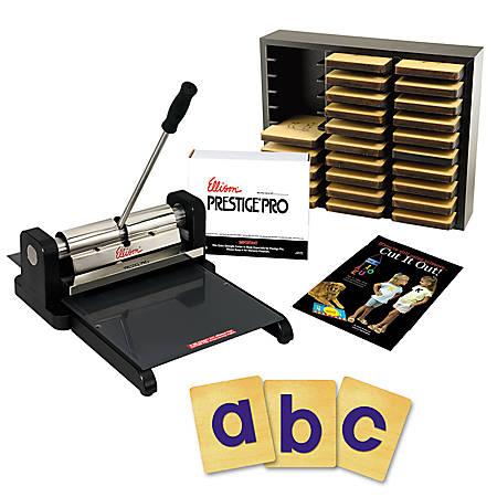 "Ellison® Die-Cut Machine Starter Set, Prestige® Pro With Prestige® SureCut™ Block 4"" Lowercase Letters"