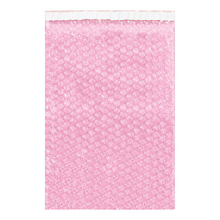 "Office Depot® Brand Anti-Static Bubble Pouches, 7-1/2""H x 4""W, Pink, Case Of 1,100 Pouches"