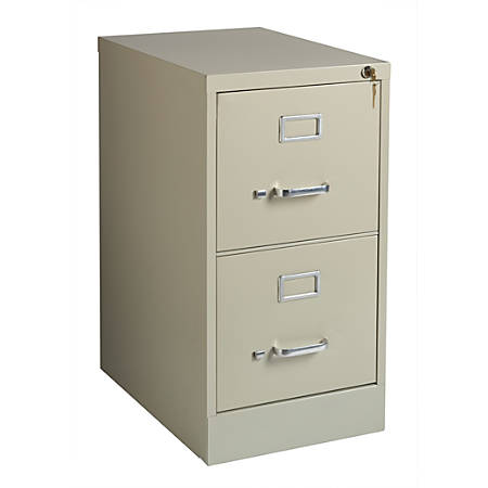 "Realspace® 22""D 2-Drawer Metal Vertical File Cabinet, Putty"