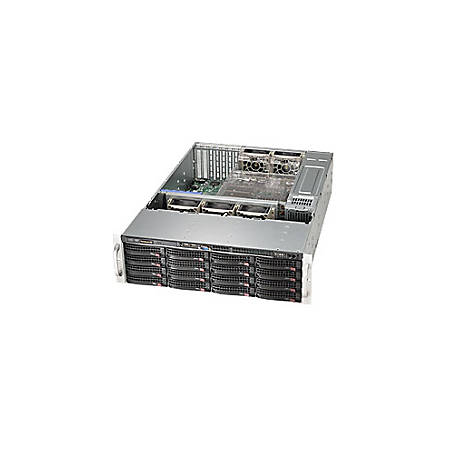 "Supermicro SuperChassis SC836BE26-R920B System Cabinet - Rack-mountable - Black - 3U - 16 x Bay - 5 x Fan(s) Installed - 2 x 920 W - EATX, ATX Motherboard Supported - 72 lb - 5 x Fan(s) Supported - 16 x External 3.5"" Bay - 7x Slot(s) - 2 x USB(s)"