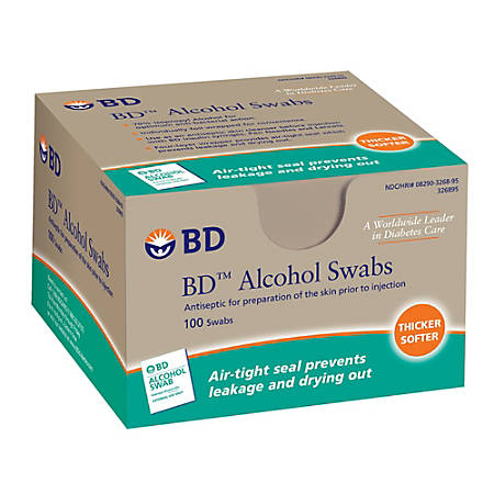 BD™ Sterile Alcohol Swabs, Pack Of 100