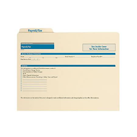 "ComplyRight Payroll/Tax Folders, 11 3/4"" x 9 1/2"", Manila, Pack Of 25"