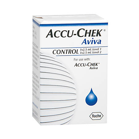 ACCU-CHEK® Aviva 2 Level Glucose Control Solution, High-Low, 2.5 mL