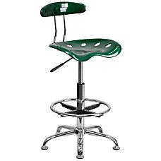 Flash Furniture Vibrant Drafting Stool GreenChrome