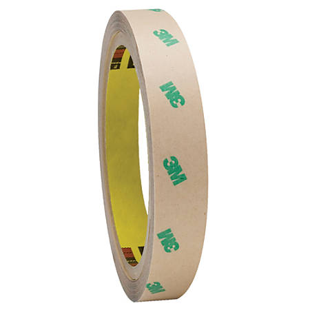 """3M™ F9465PC Adhesive Transfer Tape Hand Rolls, 3"""" Core, 0.75"""" x 60 Yd., Clear, Case Of 48"""