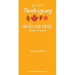 Custom Vertical Banner Autumn Leaves Orange
