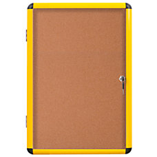 MasterVision Enclosed Cork Board 28 x
