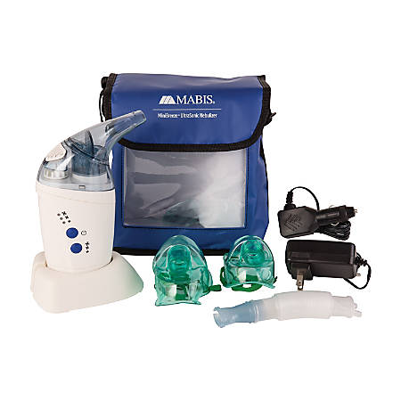 "MABIS MINIBreeze Ultrasonic Nebulizer, 8""H x 5""W x 5 1/2""D, Blue/White"