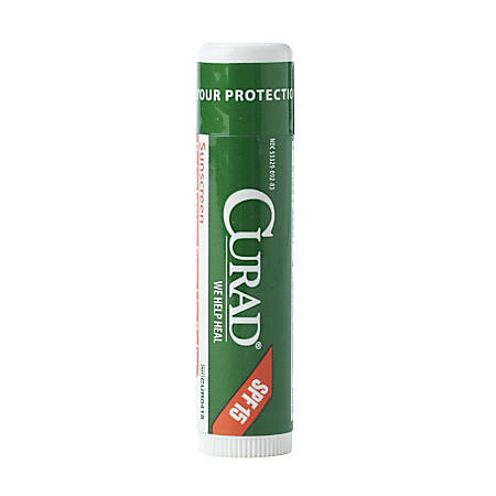 CURAD® Mint Lip Balm With SPF 15, Clear, Pack Of 600