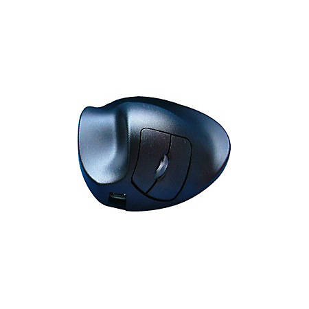 HandShoeMouse BlueRay Wireless Mouse, Left-Handed, Black, LL2UL