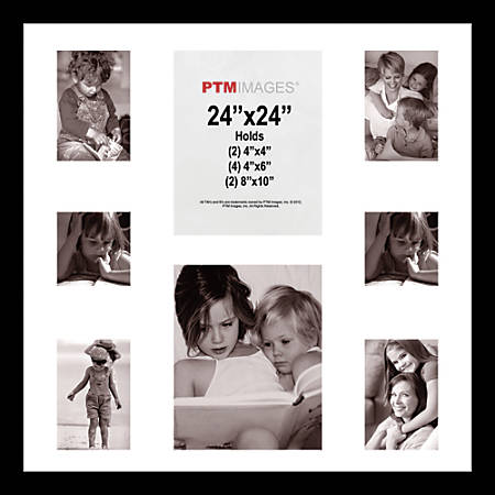 "PTM Images Photo Frame, Collage, 24""H x 24""W, Black"