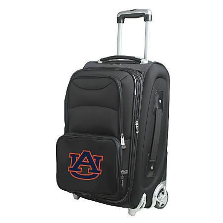 "Denco Nylon Expandable Upright Rolling Carry-On Luggage, 21""H x 13""W x 9""D, Auburn Tigers, Black"