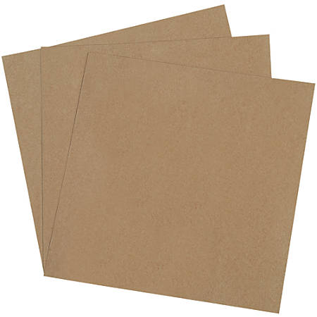 """Office Depot® Brand Chipboard Pads, 18"""" x 18"""", 100% Recycled, Kraft, Case Of 250"""