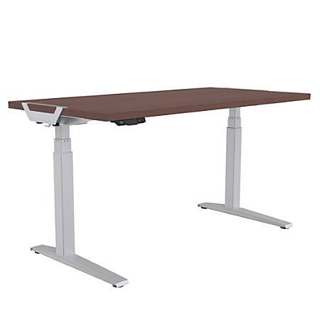 "Fellowes® Levado Height-Adjustable Desk, 48""W, Mahogany"
