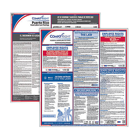 ComplyRight Federal/State Labor Law 1-Year Poster Service, Puerto Rico, Spanish