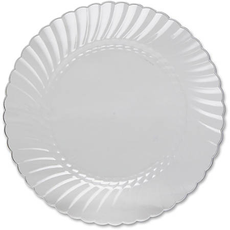 """Classicware WNA Comet Heavyweight Plastic Clear Plates - 10.25"""" Diameter Plate - Plastic - Disposable - Clear - 12 Piece(s) / Pack"""