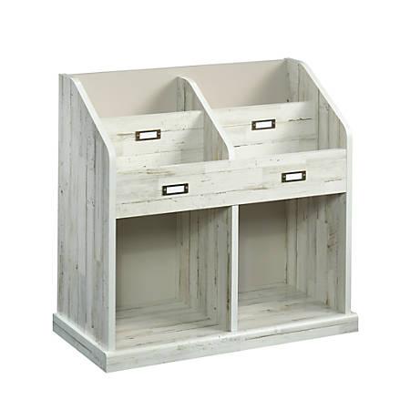 Sauder® Barrister Lane 4-Shelf Storage Organizer Bookcase, White Plank