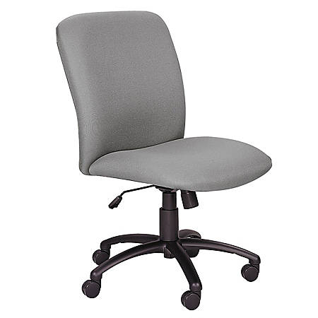 "Safco® Uber Big & Tall Executive Chair, 40 3/4-44 3/4""H x 27""W x 30 1/4""D, Black Frame, Gray Fabric"
