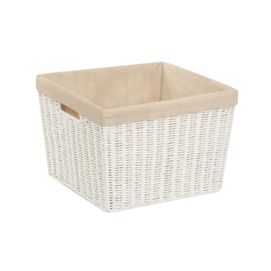 Honey Can Do Paper Rope Basket With Lining 13 X 15 X 10 White By Office  Depot U0026 OfficeMax