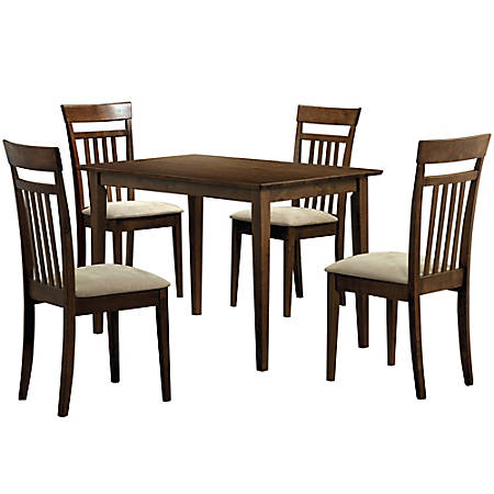 Monarch Specialties Anthony Dining Table With 4 Chairs Walnut Item 6014432