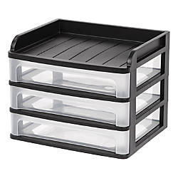 IRIS 3 Drawer Medium Desktop Storage