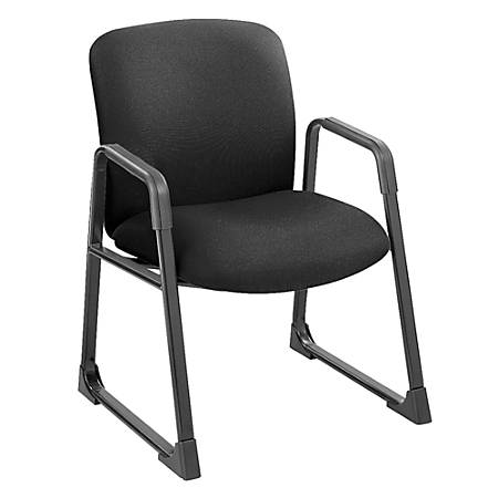 """Safco® Uber Fabric Guest Chair, 35 3/4""""H x 27 1/4""""W x 29 1/2""""D, Black Frame, Black Fabric"""